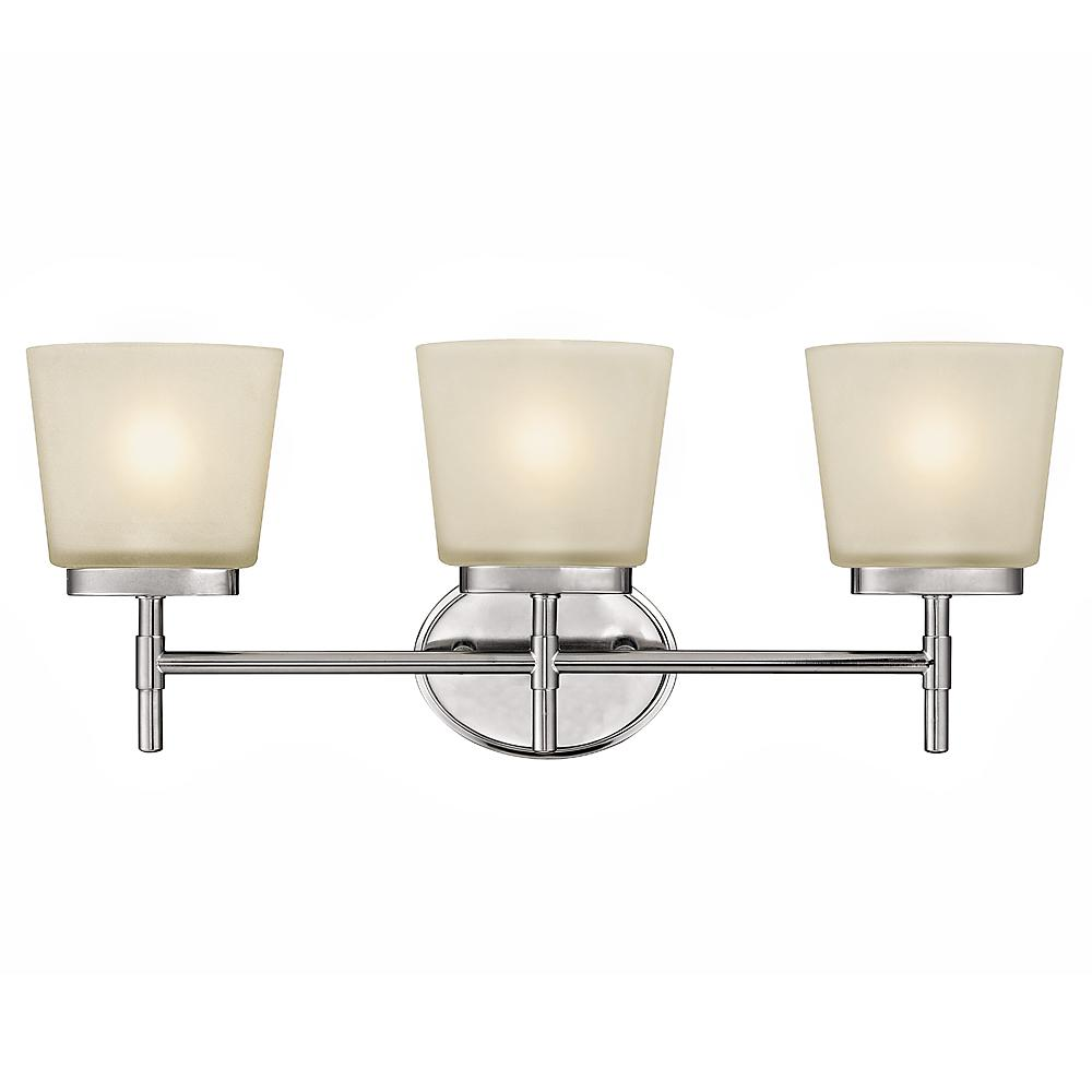 Home Decorators Collection 3-Light Polished Chrome Vanity Light with Frosted Oval Glass Shades ...