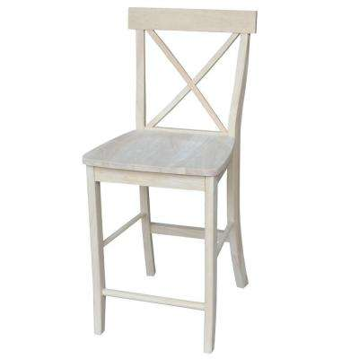 24 in. Unfinished Wood Bar Stool