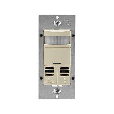 Decora Dual-Relay Multi-Technology Occupancy Sensor No Neutral, Ivory