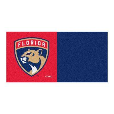 NHL - Florida Panthers Blue and Red Pattern 18 in. x 18 in. Carpet Tile (20 Tiles/Case)