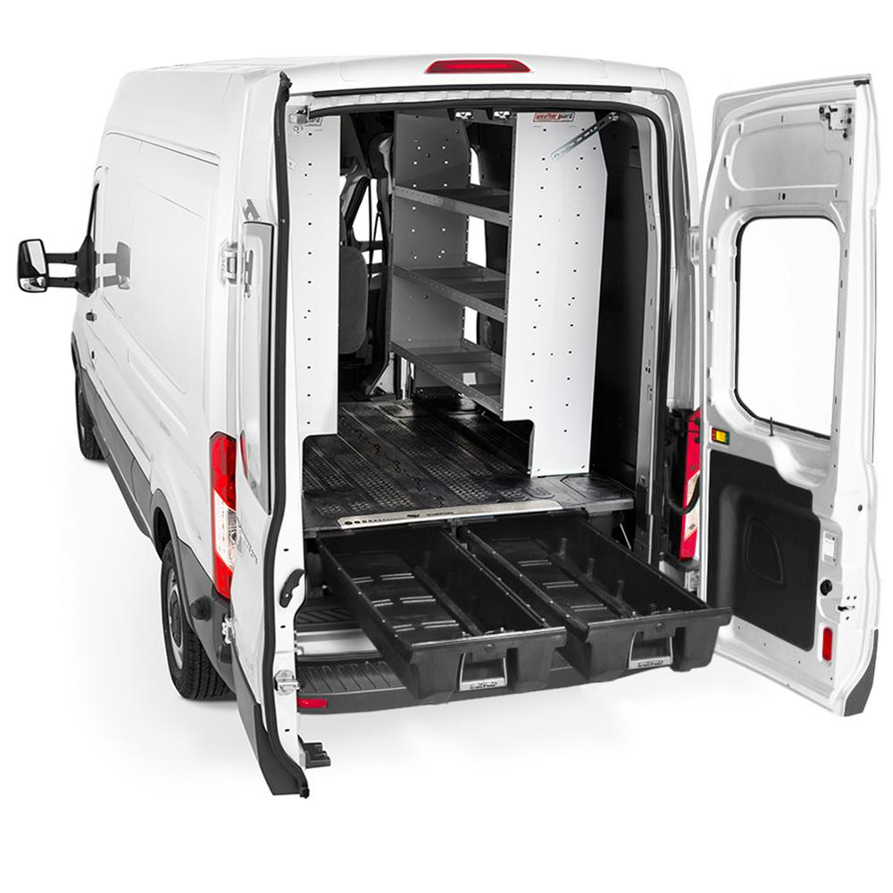 Ford Cargo Vans >> Decked Cargo Van Storage System For Ford Econoline 1992 2014 With 138 In Wheel Base