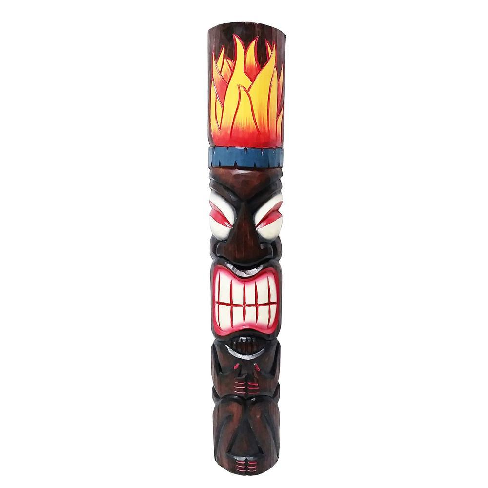 40 in. Tiki Mask Fire God Tiki Bar Outdoor Decoration