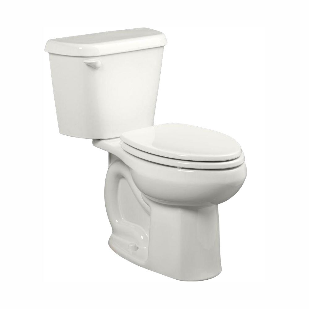 American Standard Colony 2-piece 1.28 GPF Single Flush High-Efficiency Elongated Toilet in White, Seat Not Included