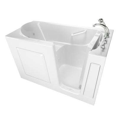 Value Series 60 in. Right Hand Walk-In Whirlpool Bathtub in White
