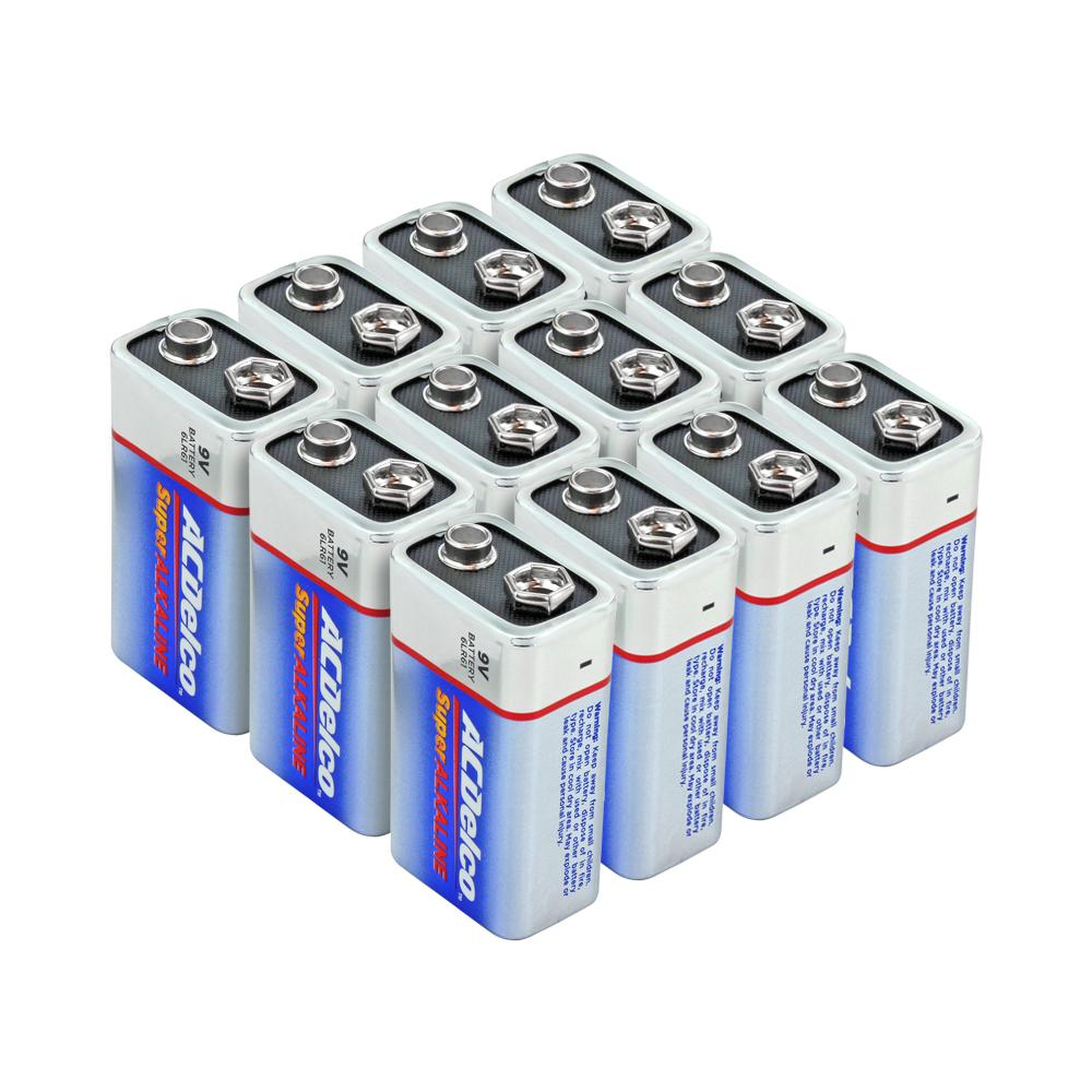 Acdelco Super Alkaline 9 Volt Battery 12 Pack Ac265 The Home Depot
