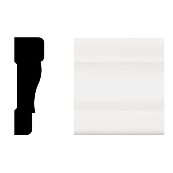 2355 11/16 in. x 2-1/4 in. x 8 ft. Primed White PVC Colonial Casing Moulding