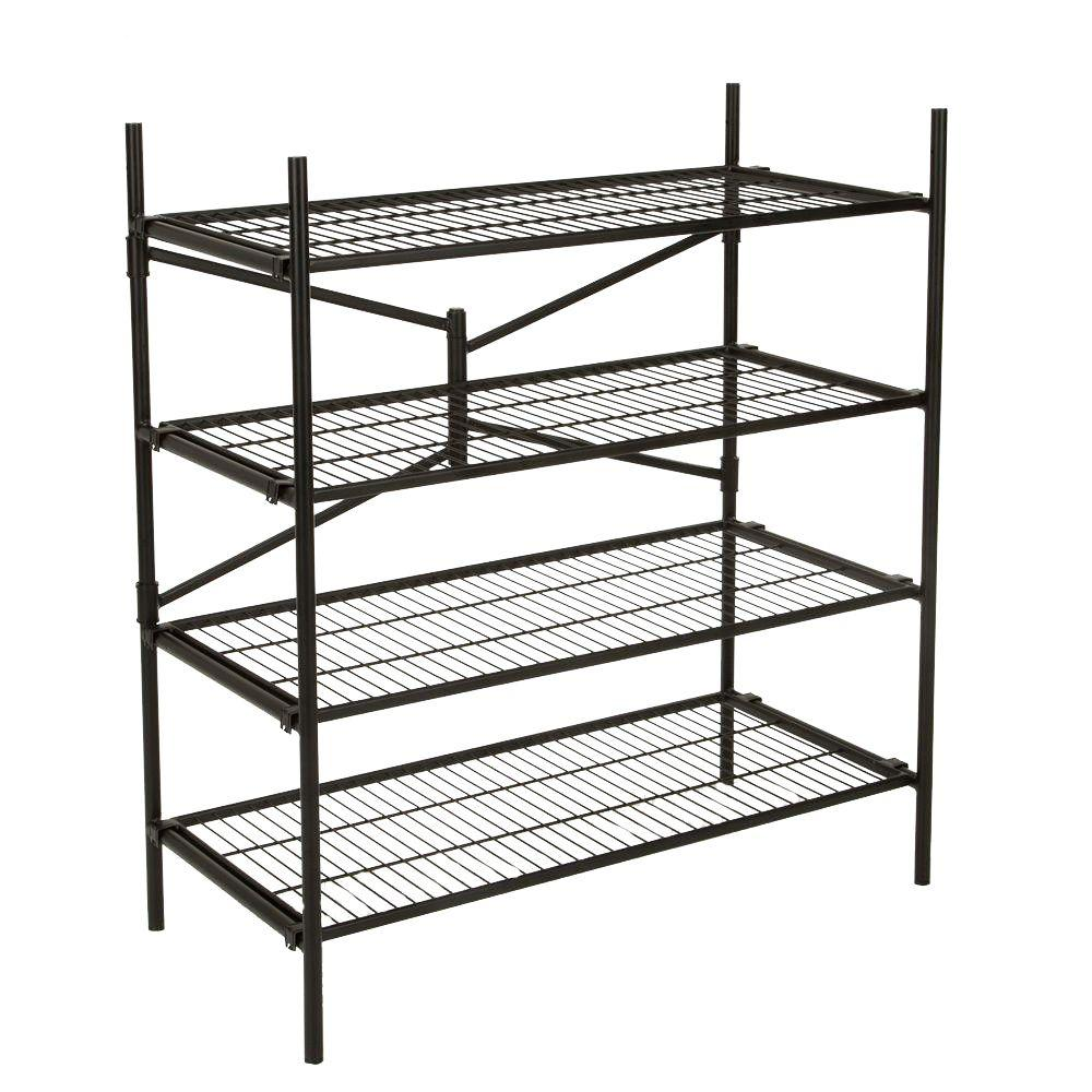 Cosco 43 in. W x 48 in. H x 21 in. D 4-Shelf Steel Foldin...