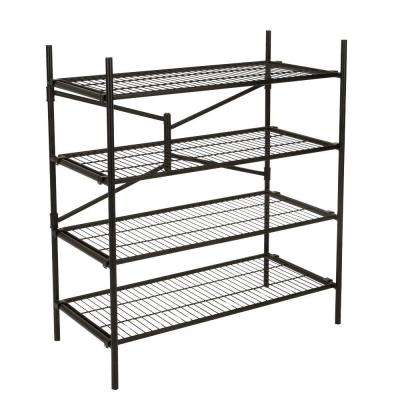 43 in. W x 48 in. H x 21 in. D 4-Shelf Steel Folding Shelving Unit