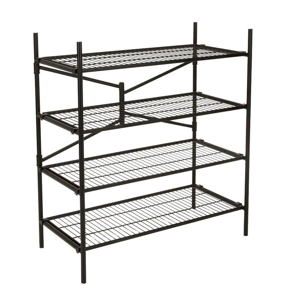 Cosco 43 in. W x 48 in. H x 21 in. D 4-Shelf Steel Foldin...