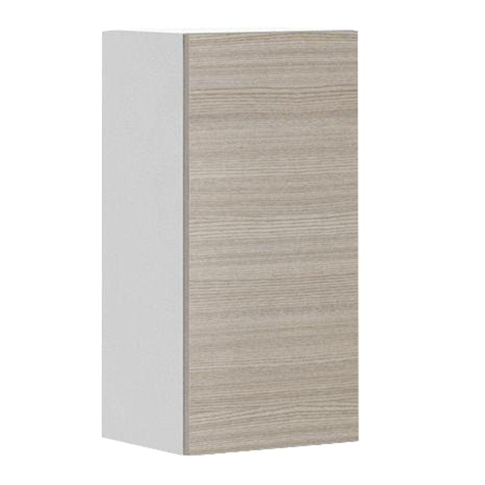 Eurostyle Ready To Assemble 15x30x12.5 In. Geneva Wall Cabinet In White  Melamine And