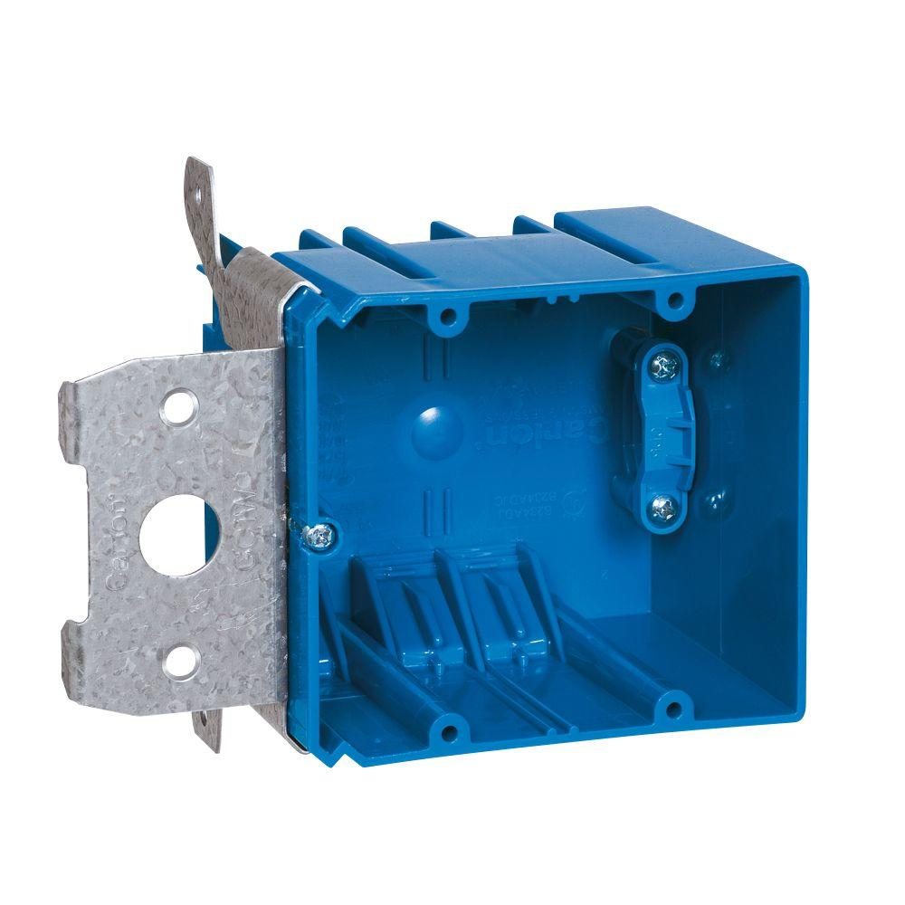 2 Gang 34 Cu In Adjustable Electrical Box With Side Clamp