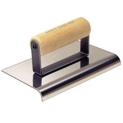 10 in. x 4 in. Stainless Steel Hand Edger with Wood Handle