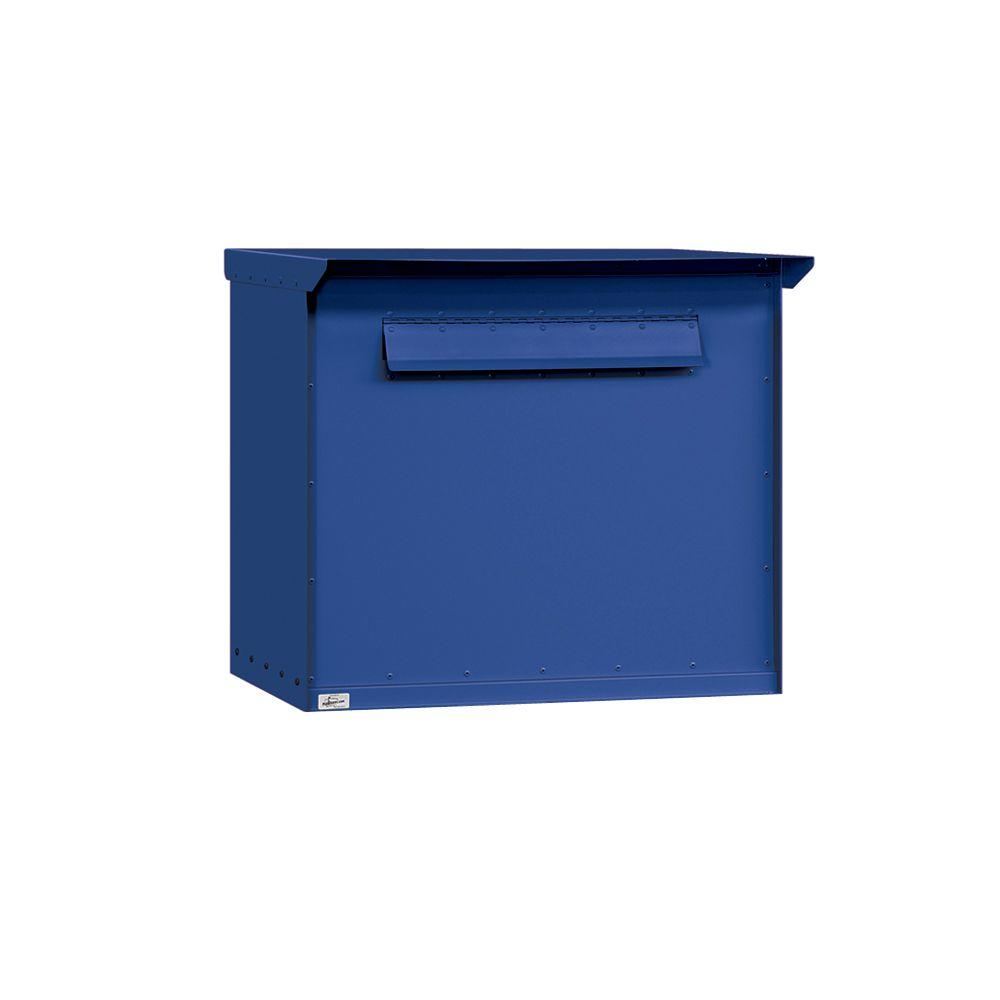 Salsbury Industries 4200 Series Pedestal Drop Box in Jumbo Blue