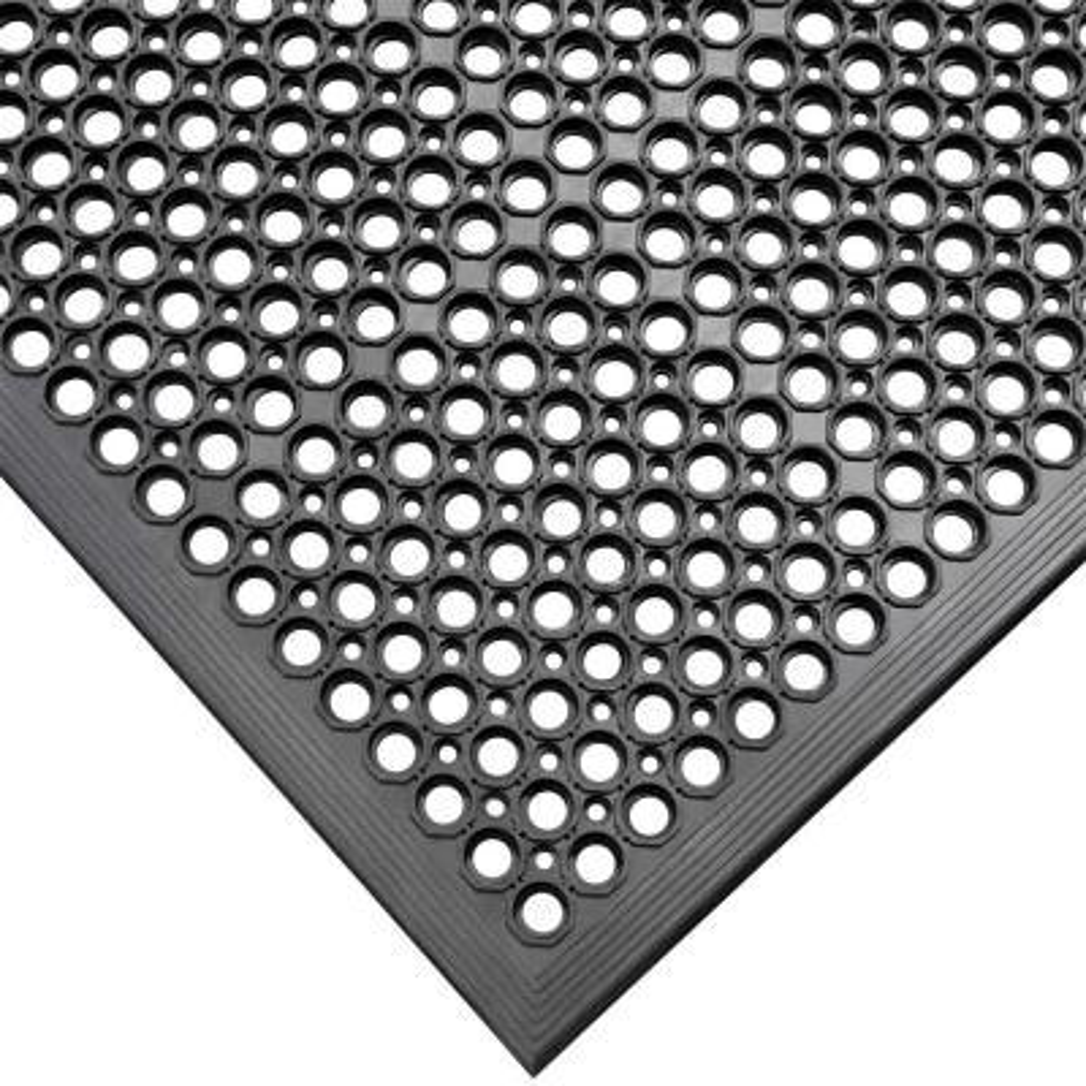 Dura-Chef Black 1/2 in. x 36 in. x 60 in. Rubber Comfort Mat