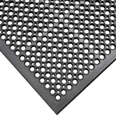 Dura-Chef Black 1/2 in. x 36 in. x 60 in. Rubber Comfort Mat