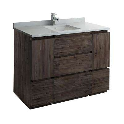 Formosa 47 in. W Modern Vanity Cabinet Only in Warm Gray