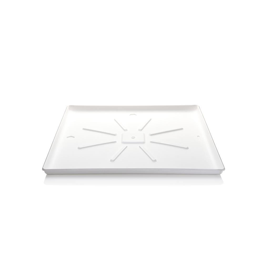Smart Choice 31 in. x 29 in. Washing Machine Drain Pan Install the Smart Choice Washer Floor Tray with confidence. Place underneath your washing machine to help protect floors. Includes a drain port for accidental leakage.