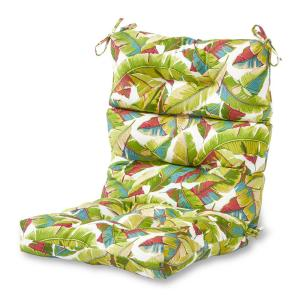 Palm Leaves Multi Outdoor High Back Dining Chair Cushion