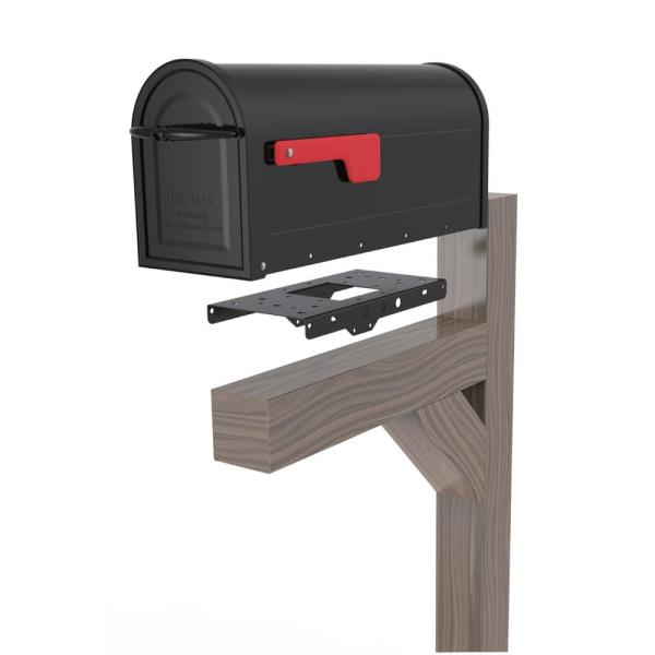 Architectural Mailboxes 4 In X 4 In Post Adapter In Black With 3 Mailbox Mounting Options 7540b 10 The Home Depot