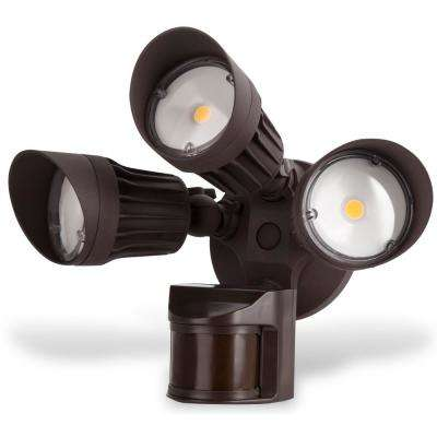 Security Light 30-Watt 180-Degree Bronze Motion Activated Outdoor Integrated LED Flood Light