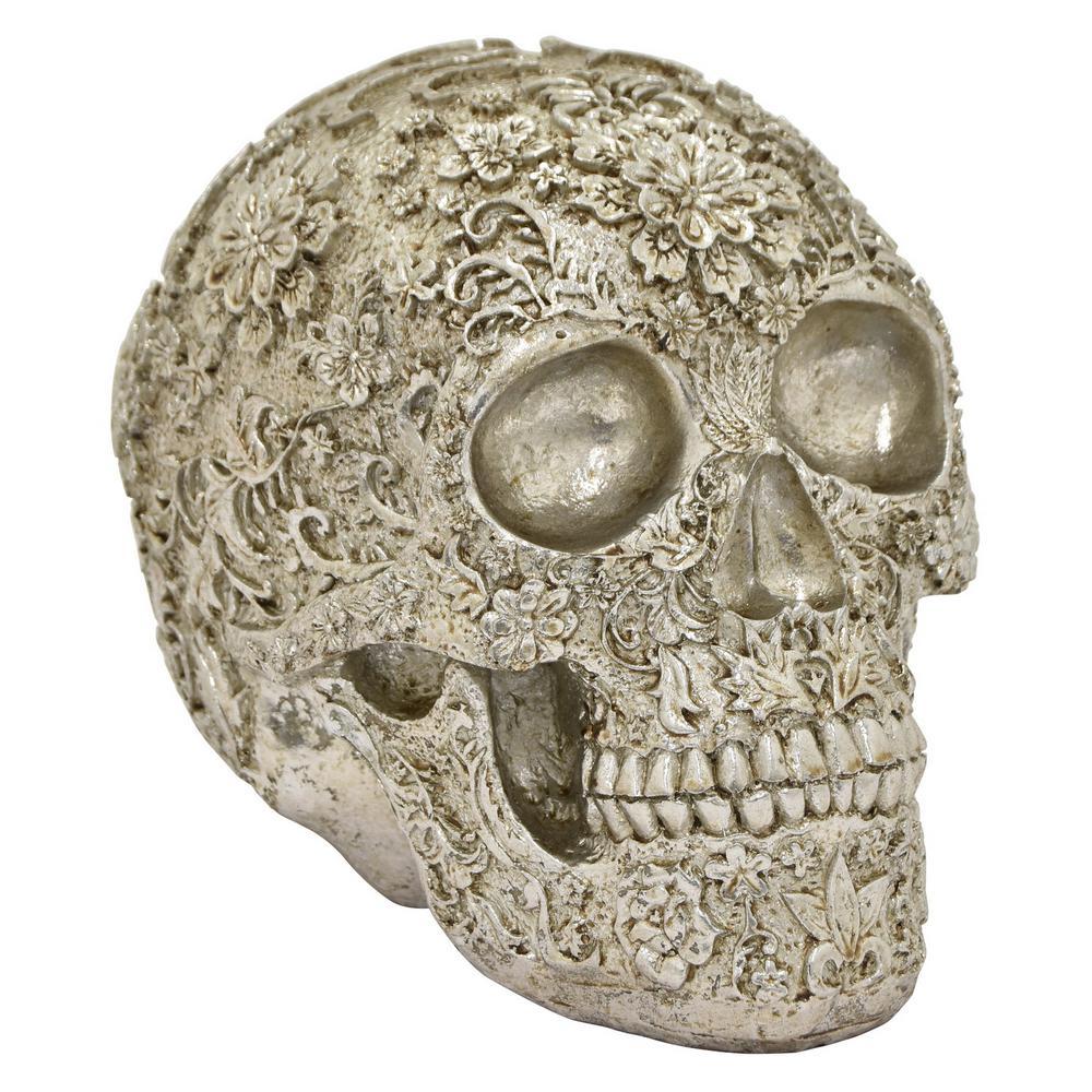 6 in. Silver Skull Tabletop