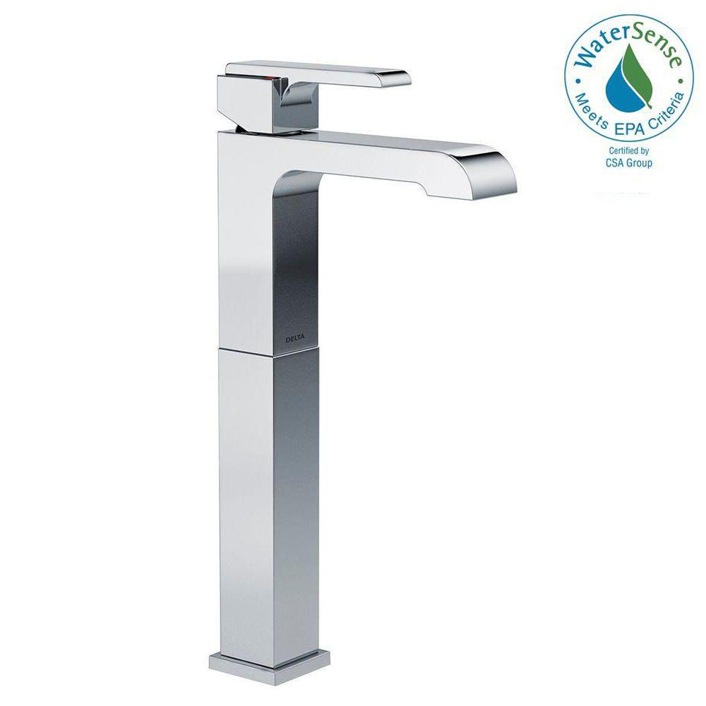 Ara Single Hole Single-Handle Vessel Bathroom Faucet in Chrome