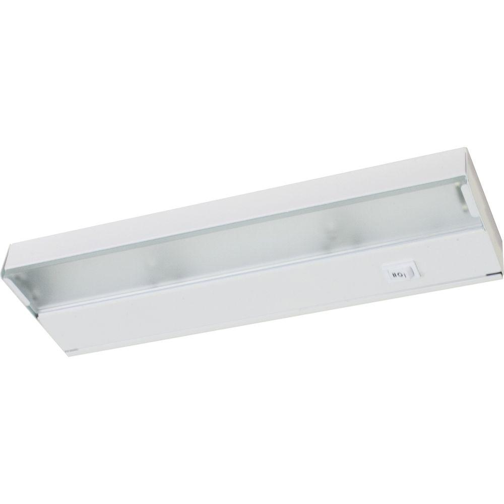 Trim To Hide Undercabinet Lights: Progress Lighting Hide-a-Lite III White 2-Light