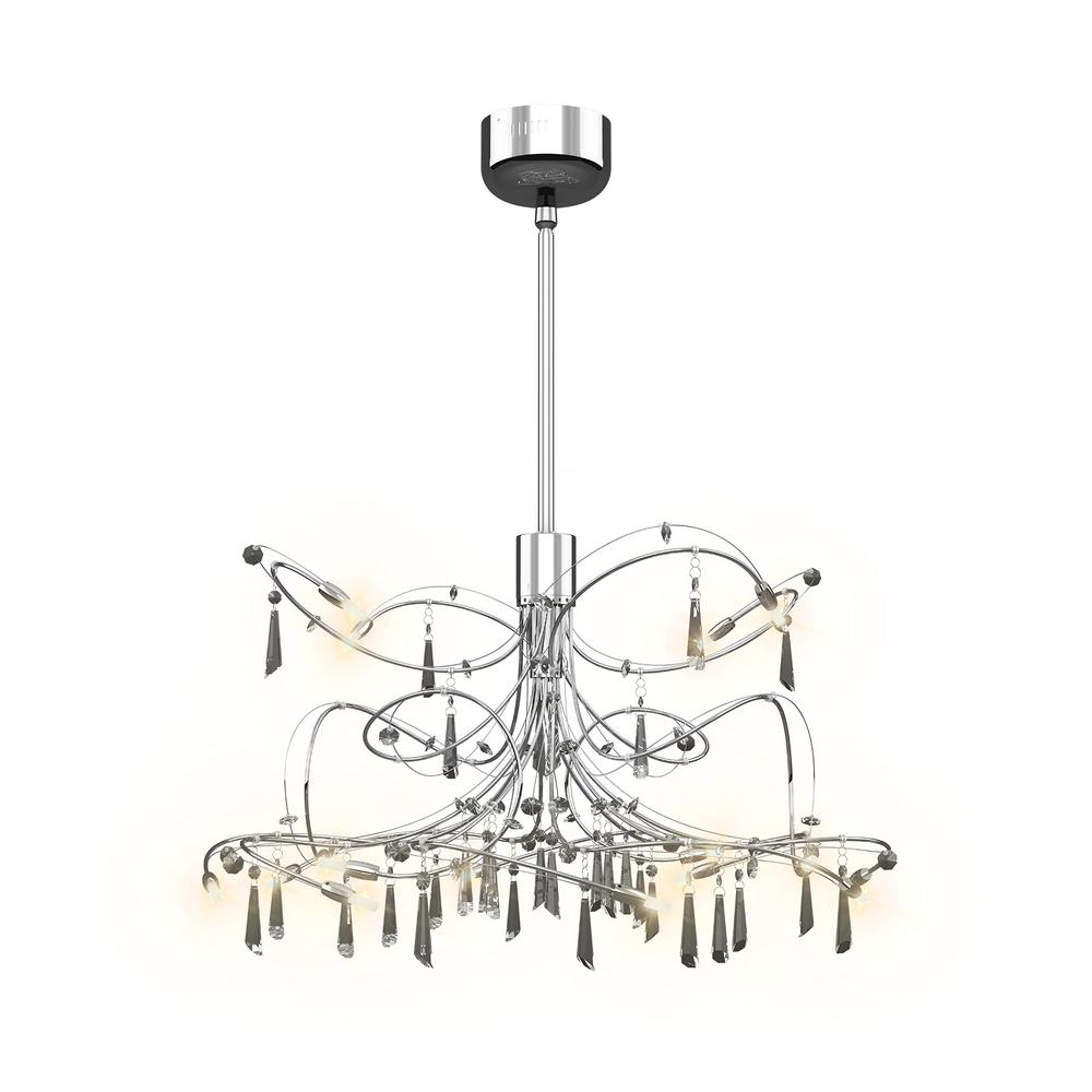 Artika Constellation 24-Watt Chrome Integrated LED Chandelier
