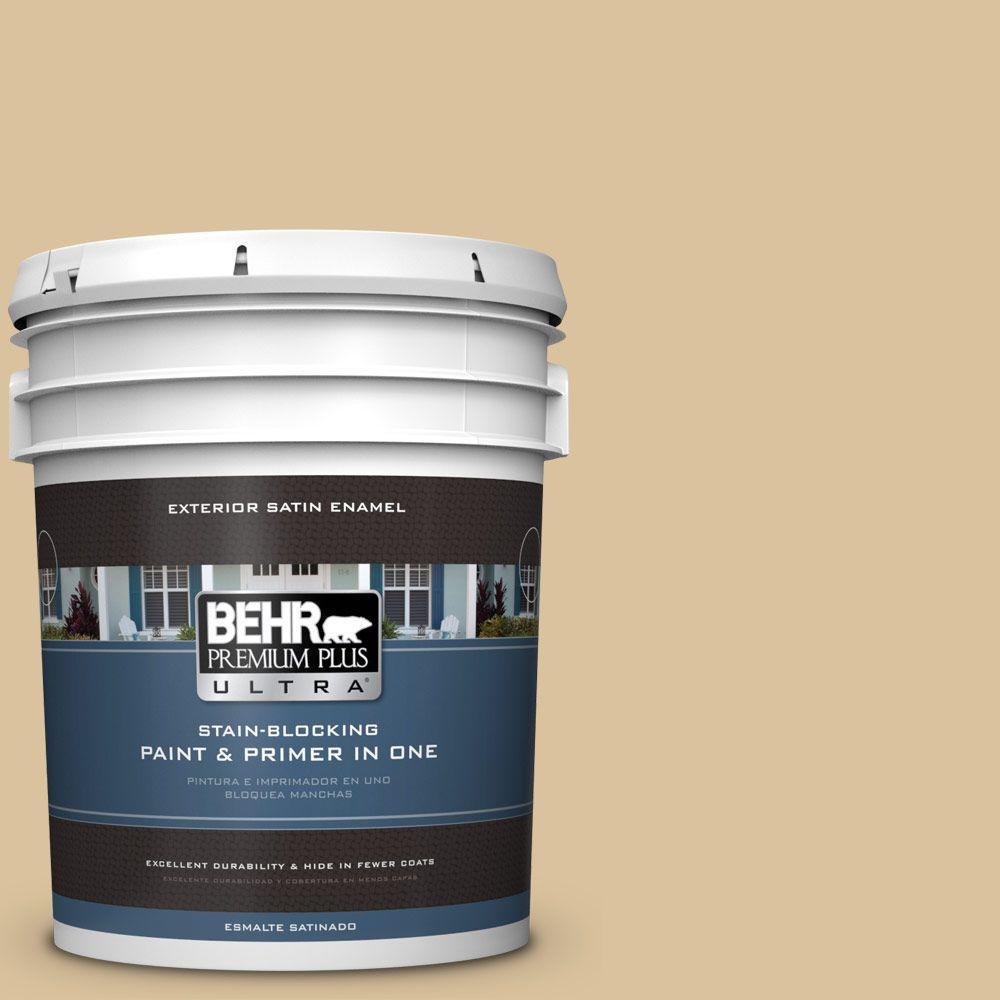 BEHR Premium Plus Ultra 5-gal. #S310-3 Natural Twine Satin Enamel Exterior Paint