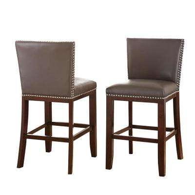 Tiffany Counter Height Gray Chairs (Set of 2)