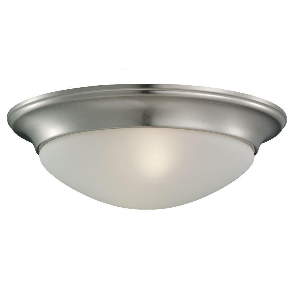 Nash 2-Light Brushed Nickel Flushmount