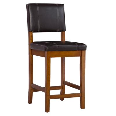 Milano 24 in. Dark Brown Cushioned Bar Stool
