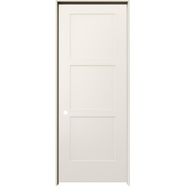 Jeld Wen 30 In X 80 In Birkdale Primed Right Hand Smooth Hollow Core Molded Composite Single Prehung Interior Door Thdjw235300140 The Home Depot