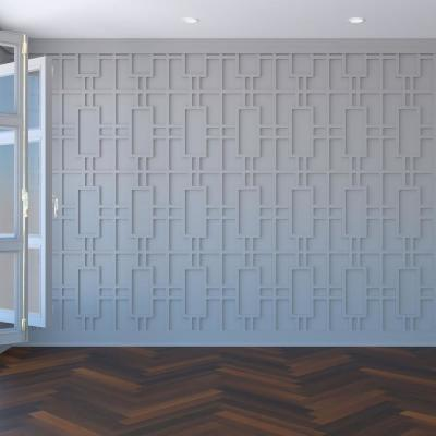 """3/8"""" x 15-1/2"""" x 23-3/8"""" Hastings Decorative Fretwork Wall Panels in Architectural Grade PVC"""