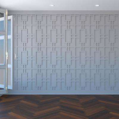 3/8 in. x 15-1/2 in. x 23-3/8 in. Large Hastings White Architectural Grade PVC Decorative Wall Panels