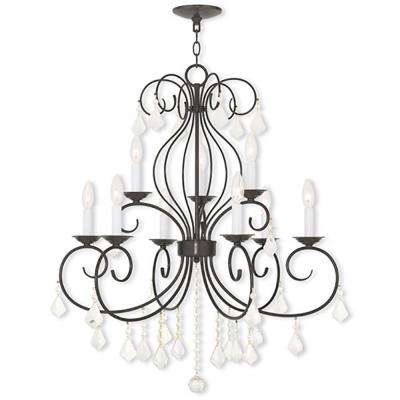 Donatella 9-Light English Bronze Chandelier
