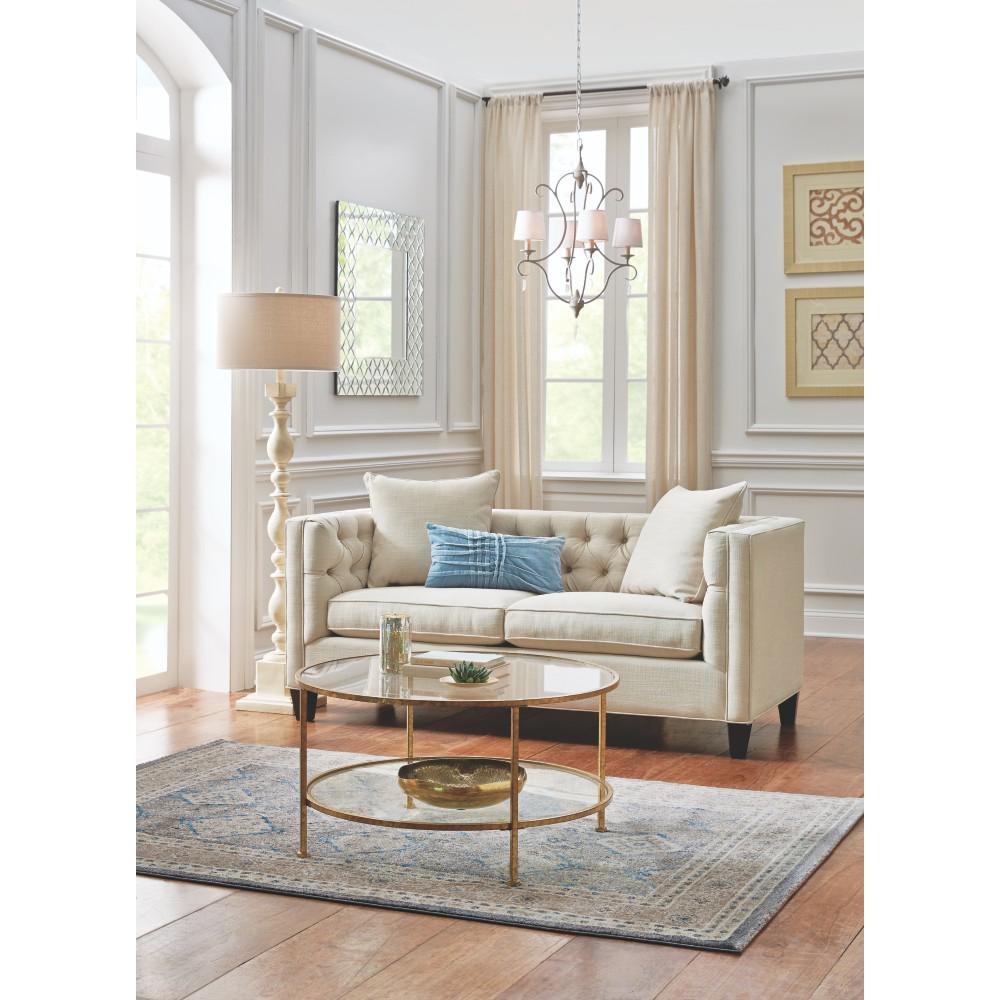 Home Decorators Collection Lakewood 85 In. Beige Linen