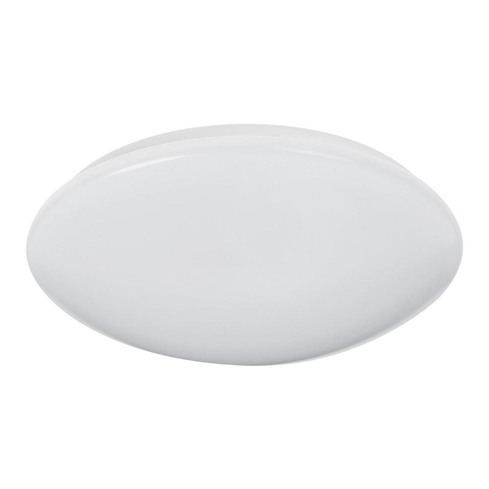 14 in. 21-Watt White Integrated LED Ceiling Flush Mount Round Puff