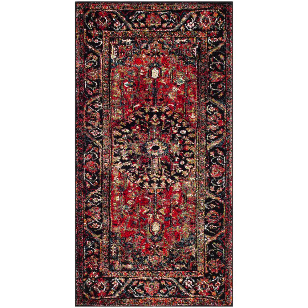 Safavieh Vintage Hamadan Red Multi 2 Ft 7 In X 5 3