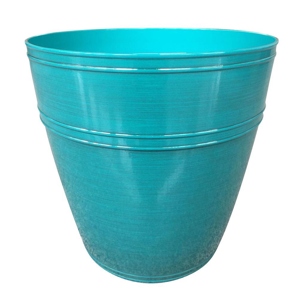 Rosemary 12.1 in. dia. Emerald Coast Resin Planter Fits 12in. Drop N'Bloom
