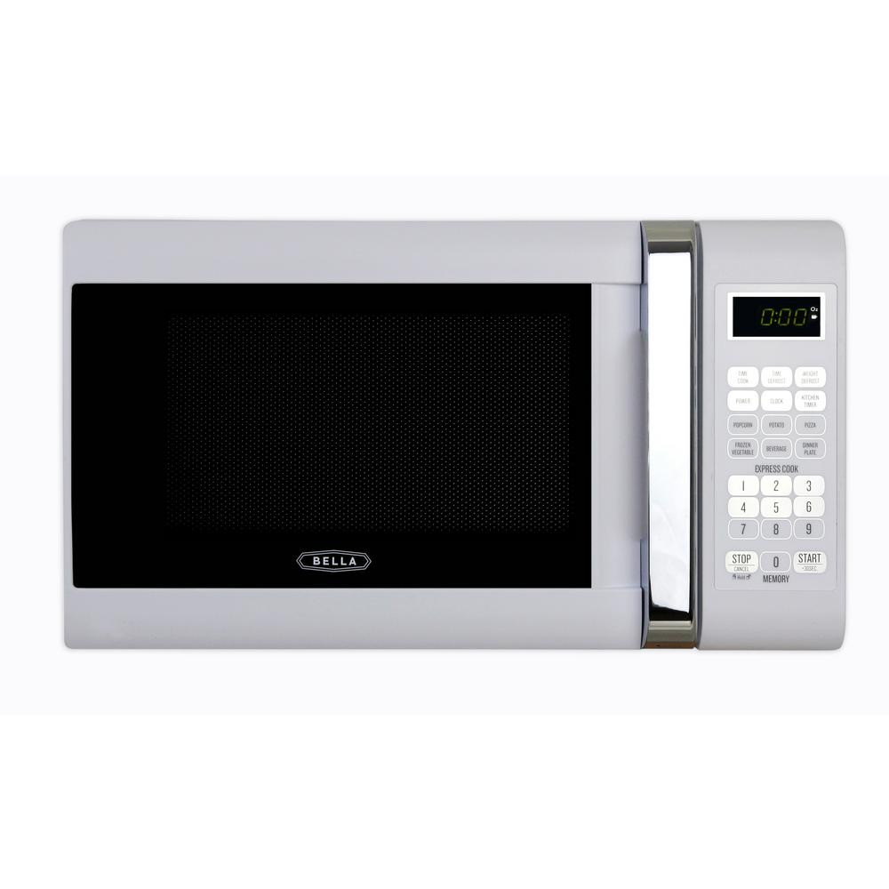 700 Watt Compact Countertop Microwave Oven In White With