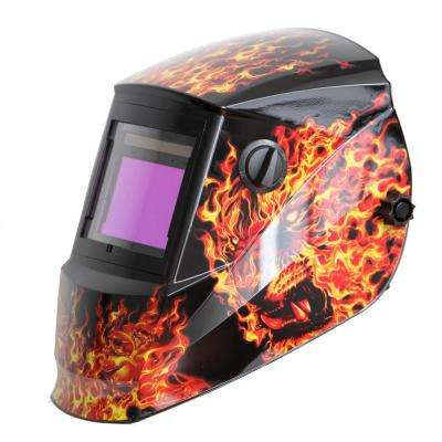 3.78 in. x 2.5 in. Solar Power Auto Darkening Welding Helmet with Large Viewing Size - Great for MMA, MIG, TIG