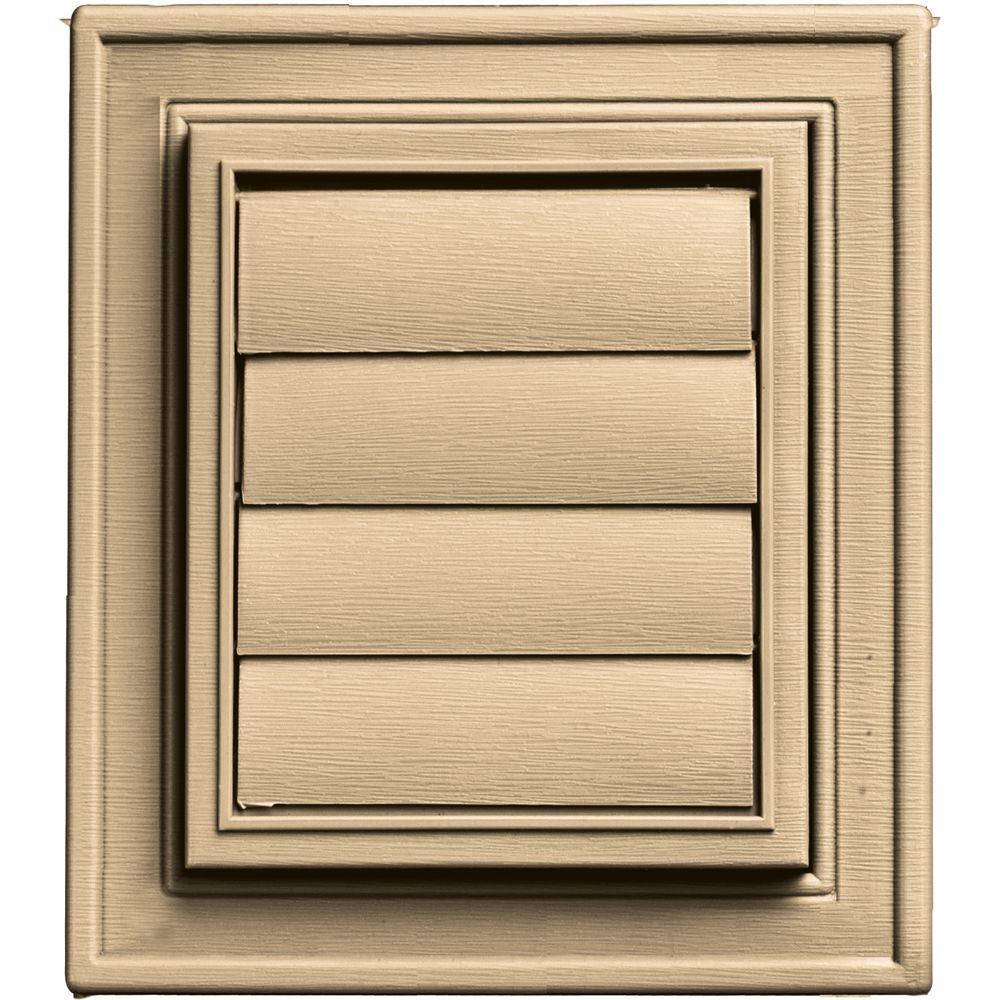 Square Exhaust Siding Vent #045-Sandstone Maple