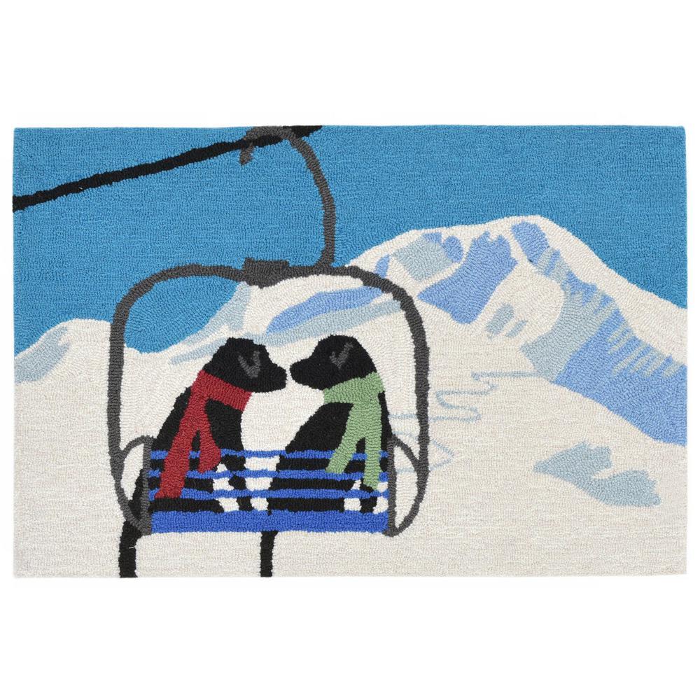 Woodside Ski Partners Winter 3 ft. x 4 ft. Indoor/Outdoor Area Rug
