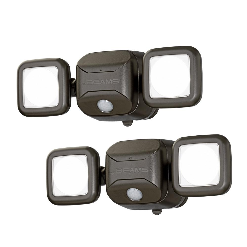 Mr Beams Outdoor 600 Lumen High Performance Battery Powered Motion Activated Integrated LED Security Light, Brown (2-Pack) was $75.99 now $58.99 (22.0% off)