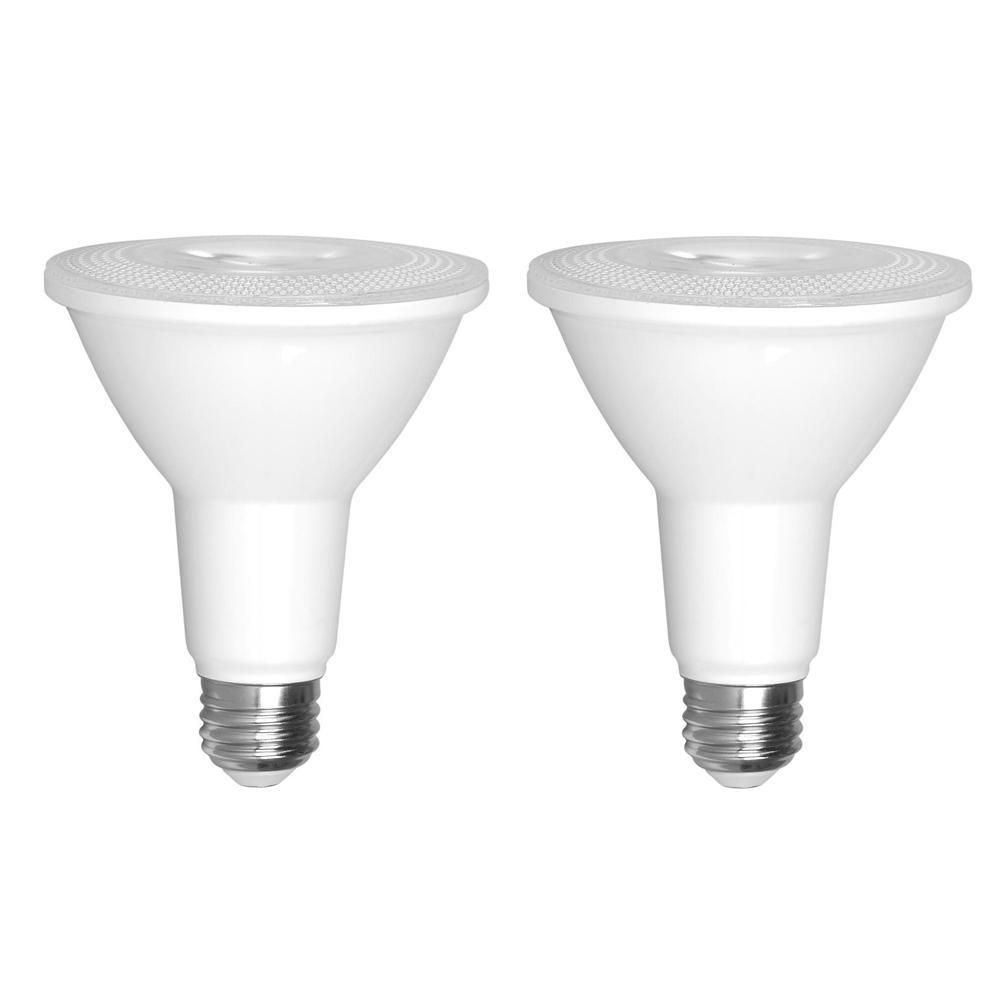 75-Watt Equivalent PAR30 Dimmable Long Neck LED Light Bulb (2-Pack)