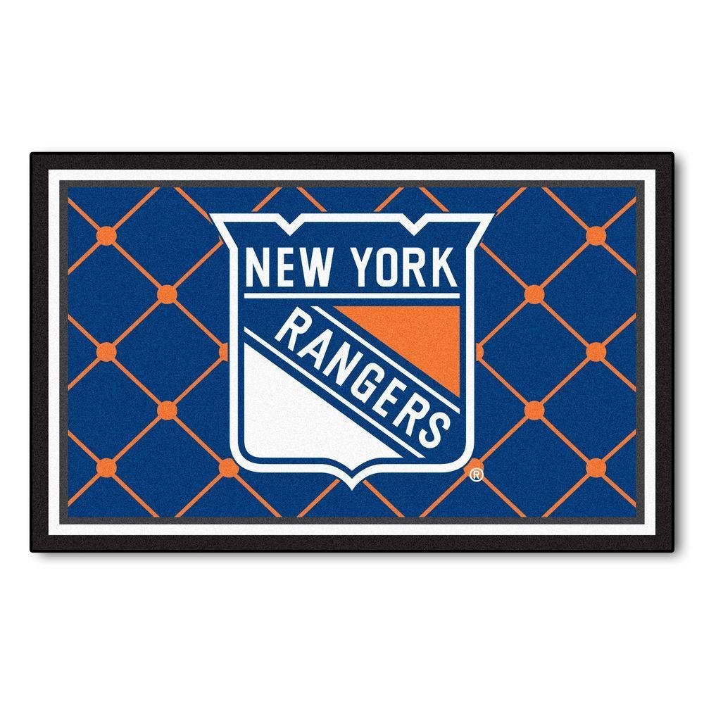 New York Rangers 4 ft. x 6 ft. Area Rug
