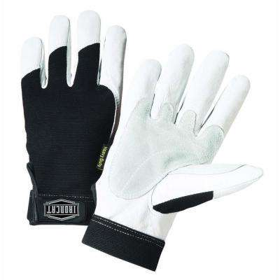 X-Large Grain Goat Goatskin Gloves with Spandex Back, Split Reinforced Palm and Thumb