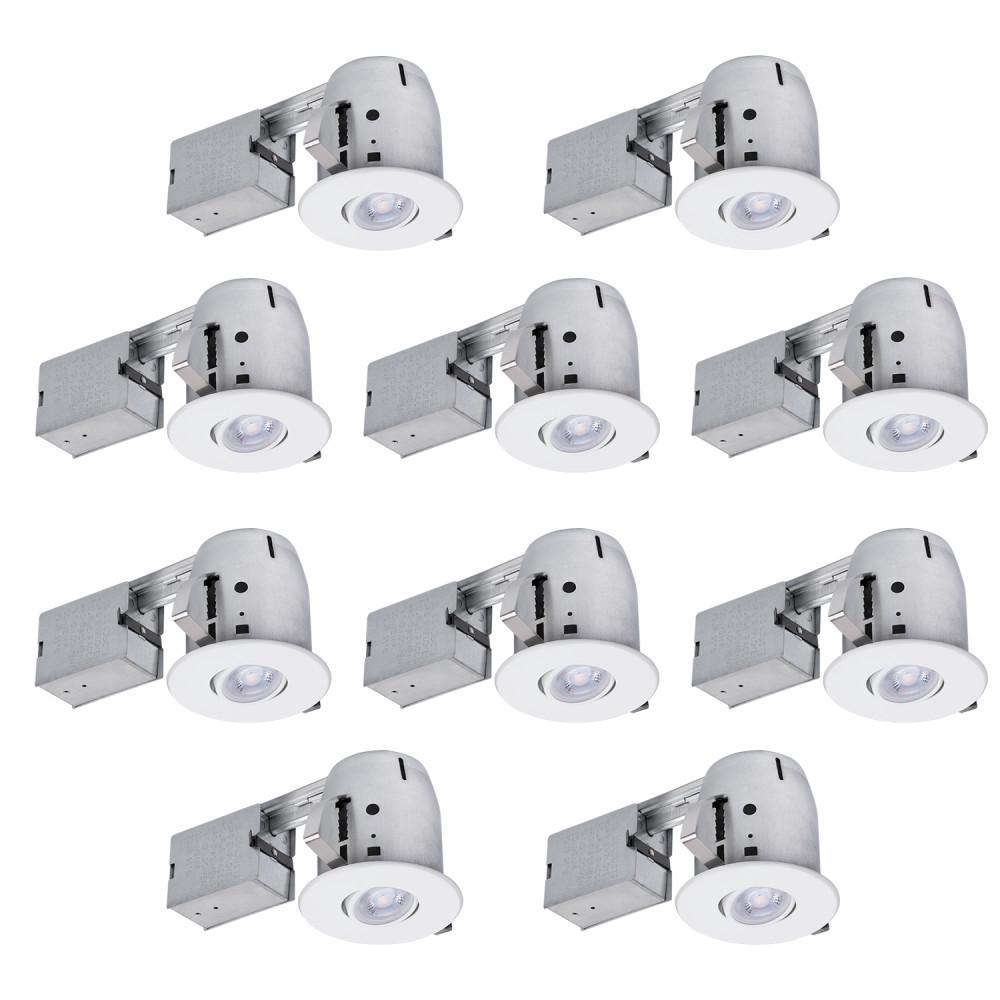 Globe Electric 4 In White Dimmable Recessed Lighting Kit 10 Pack