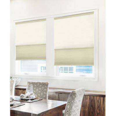 Cut-to-Width Fawn 9/16 in. Light Filtering and Privacy Cordless Cellular Shade - 36.5 in. W x 72 in. L